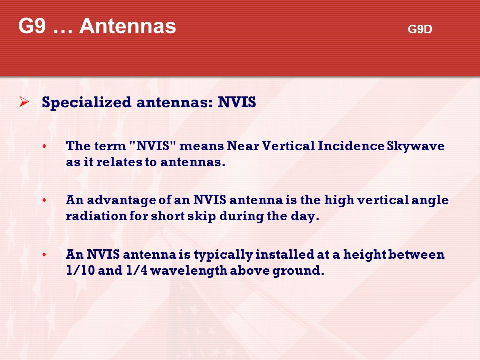 G9 … Antennas G9D Specialized antennas: NVIS