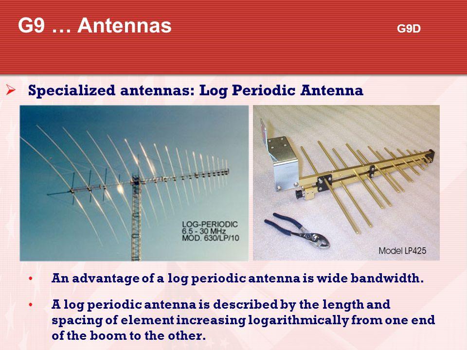 G9 … Antennas G9D Specialized antennas: Log Periodic Antenna