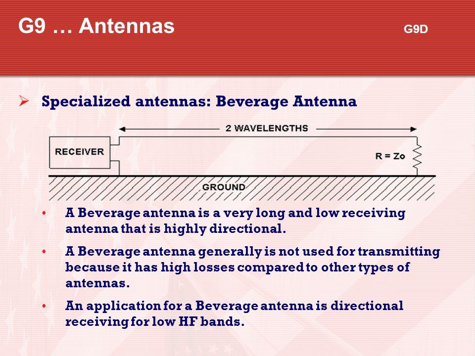 G9 … Antennas G9D Specialized antennas: Beverage Antenna