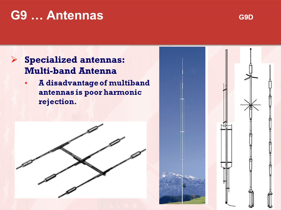 G9 … Antennas G9D Specialized antennas: Multi-band Antenna