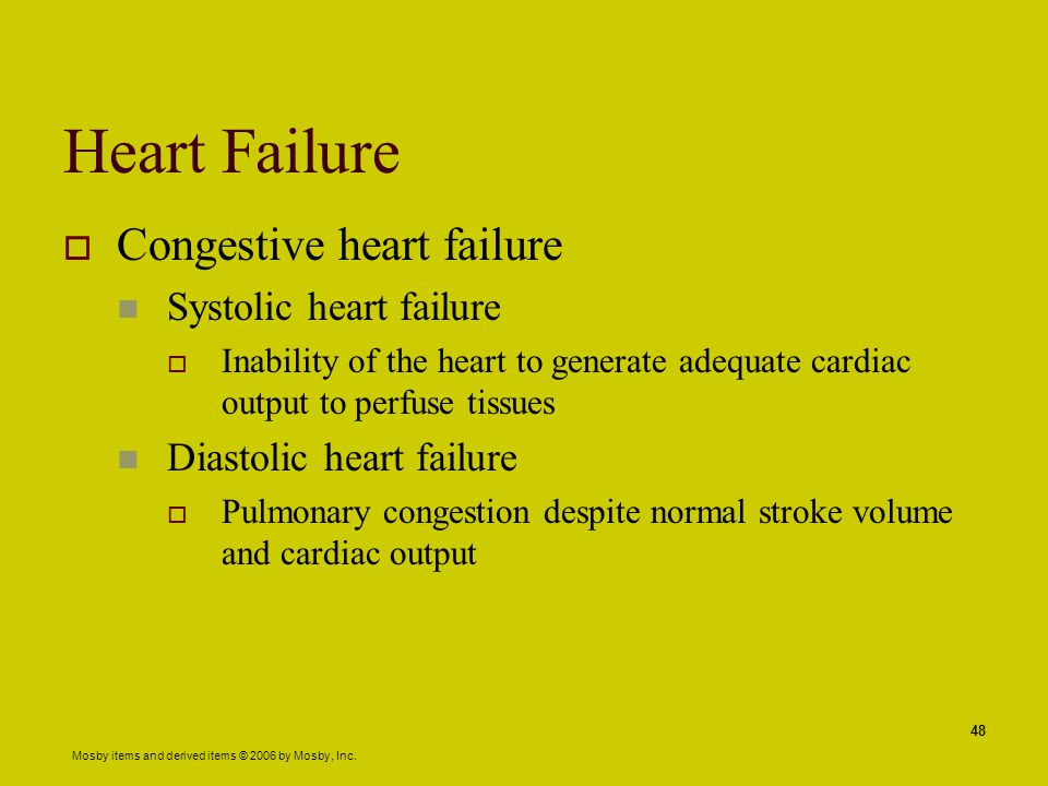 Heart Failure Congestive heart failure Systolic heart failure
