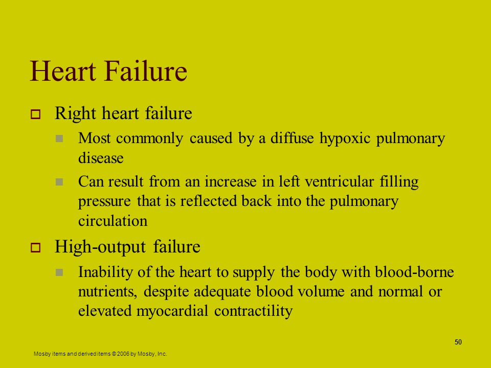 Heart Failure Right heart failure High-output failure