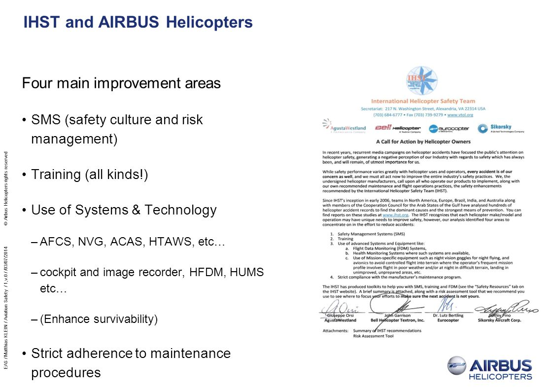 IHST and AIRBUS Helicopters