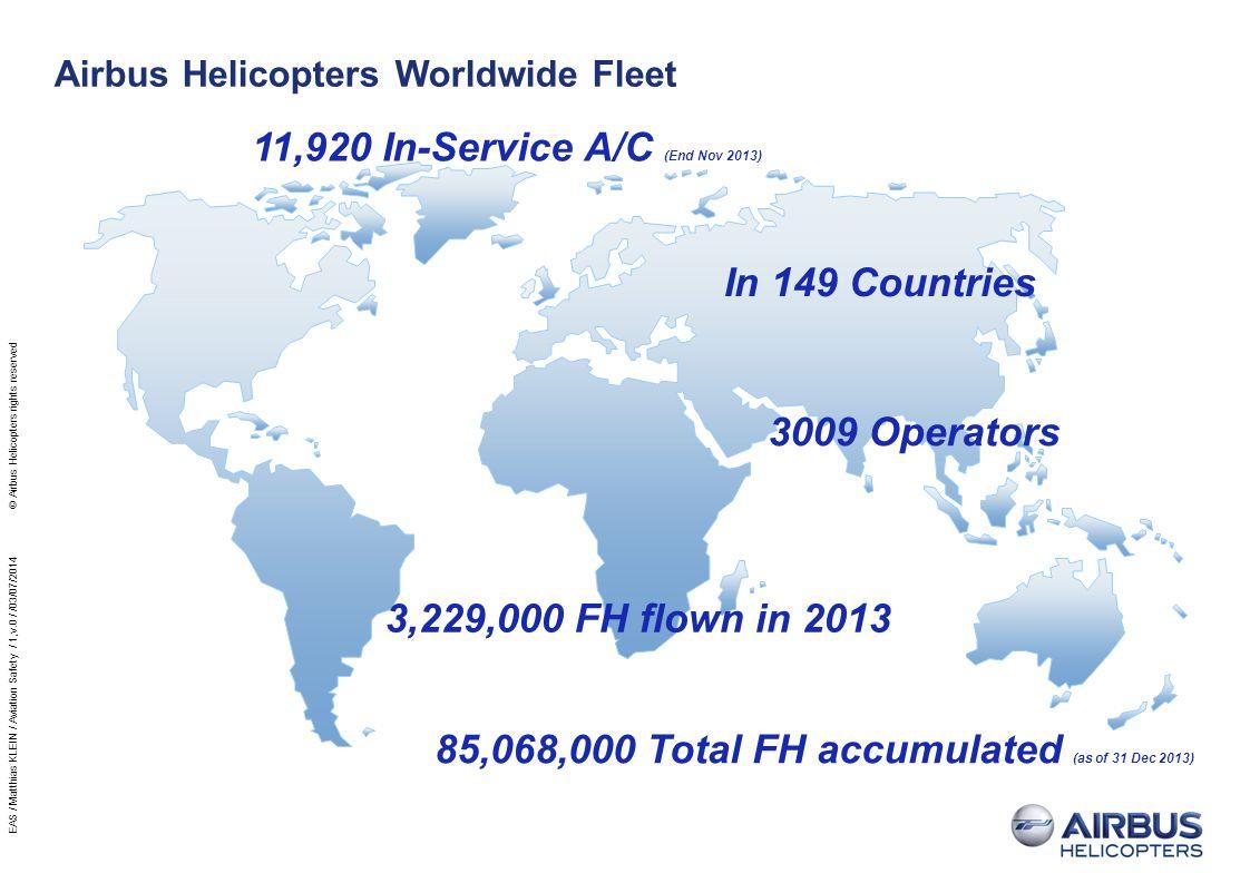 Airbus Helicopters Worldwide Fleet