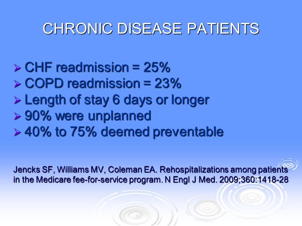 CHRONIC DISEASE PATIENTS