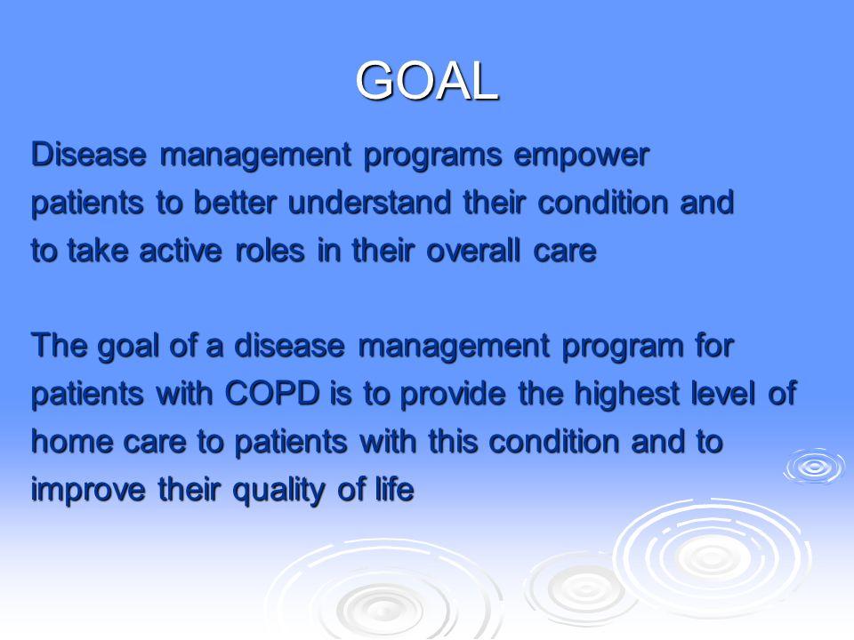 GOAL Disease management programs empower