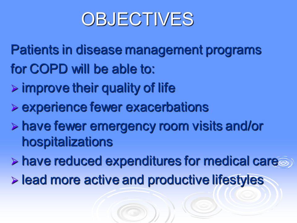 OBJECTIVES Patients in disease management programs