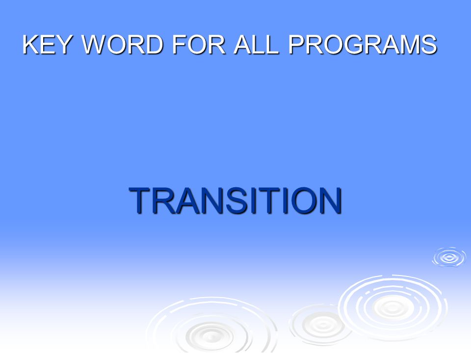 KEY WORD FOR ALL PROGRAMS