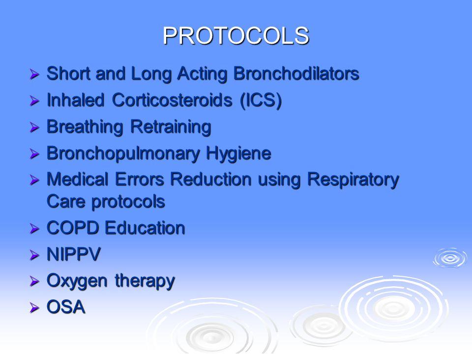 PROTOCOLS Short and Long Acting Bronchodilators