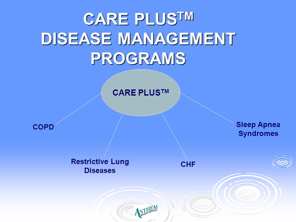 CARE PLUSTM DISEASE MANAGEMENT PROGRAMS