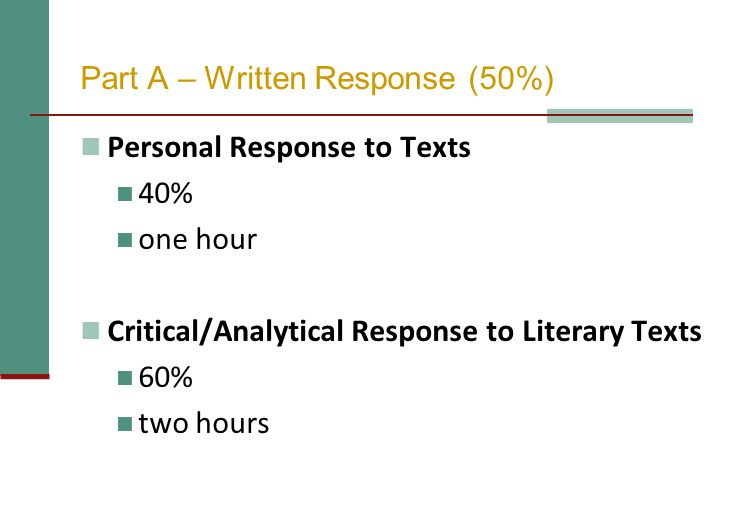 Part A – Written Response (50%)