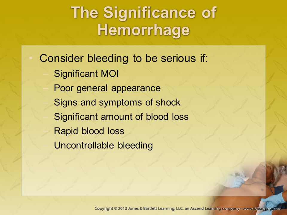 The Significance of Hemorrhage