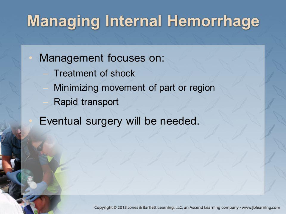 Managing Internal Hemorrhage