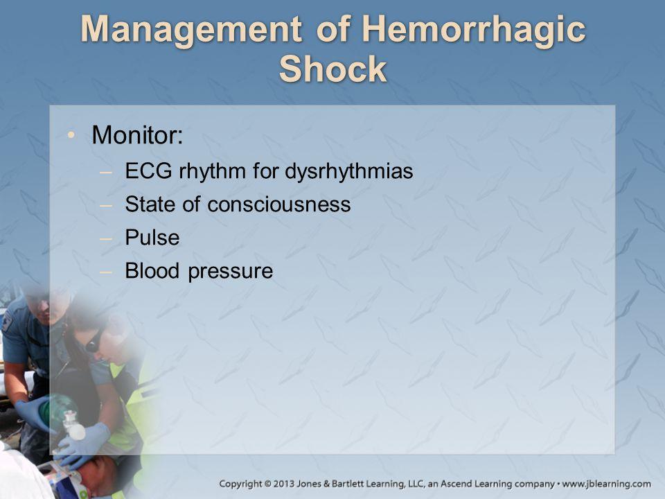 Management of Hemorrhagic Shock