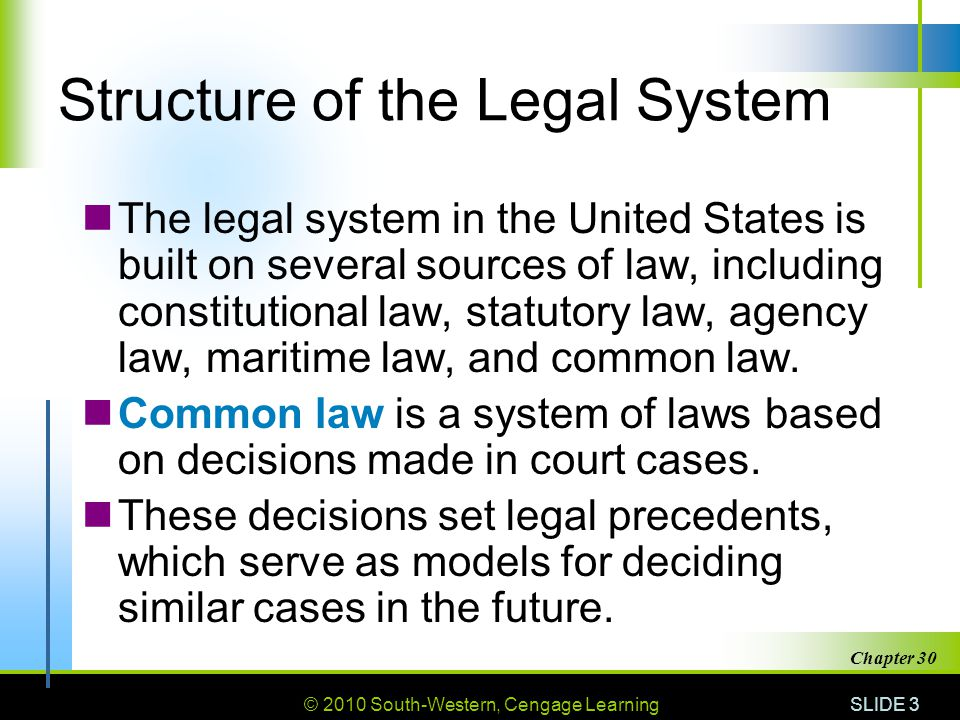 Structure of the Legal System