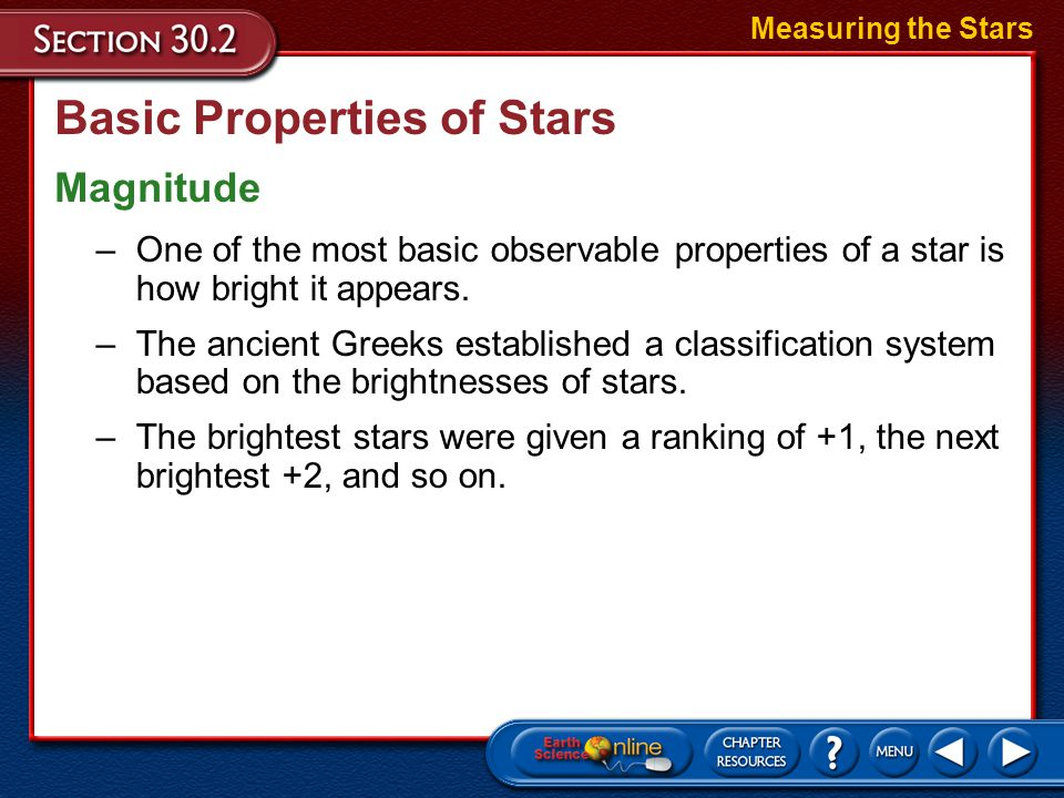 Basic Properties of Stars