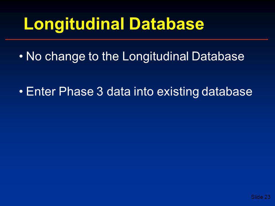 Longitudinal Database