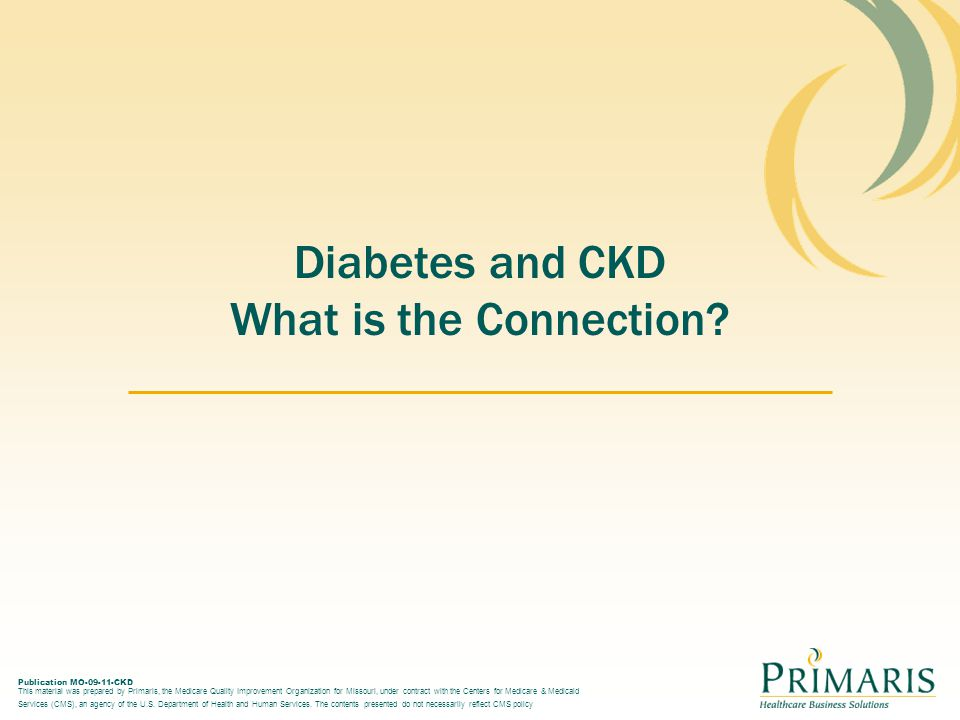 Diabetes and CKD What is the Connection