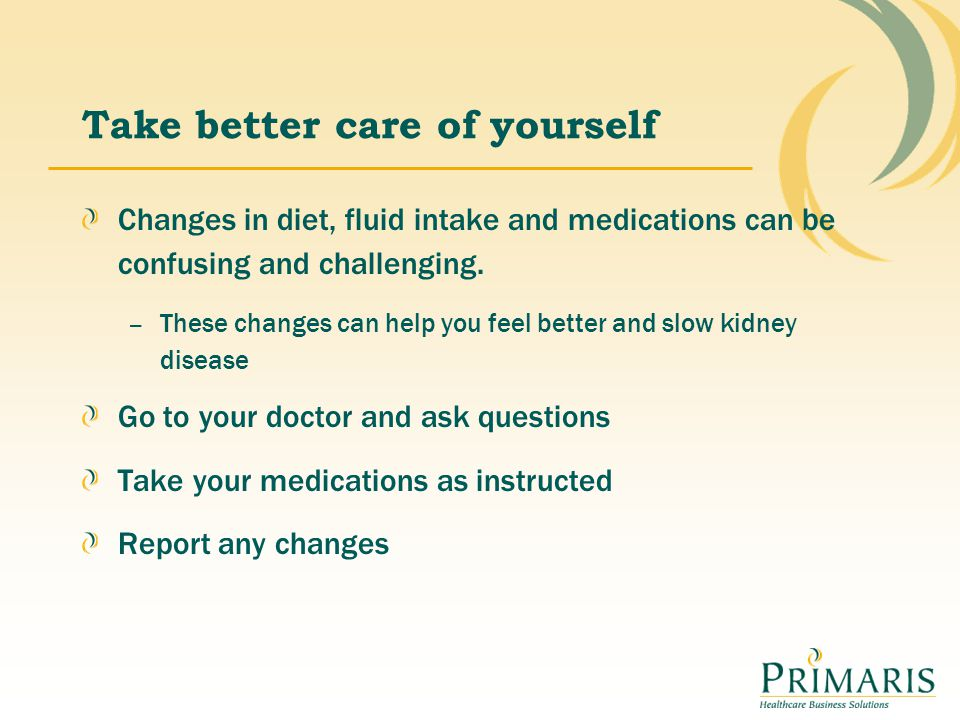 Take better care of yourself