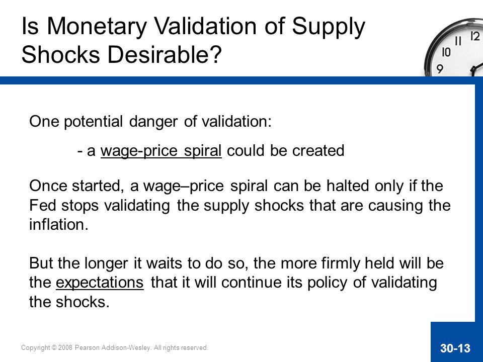Is Monetary Validation of Supply Shocks Desirable
