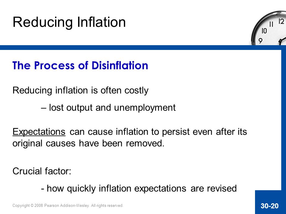 Reducing Inflation The Process of Disinflation