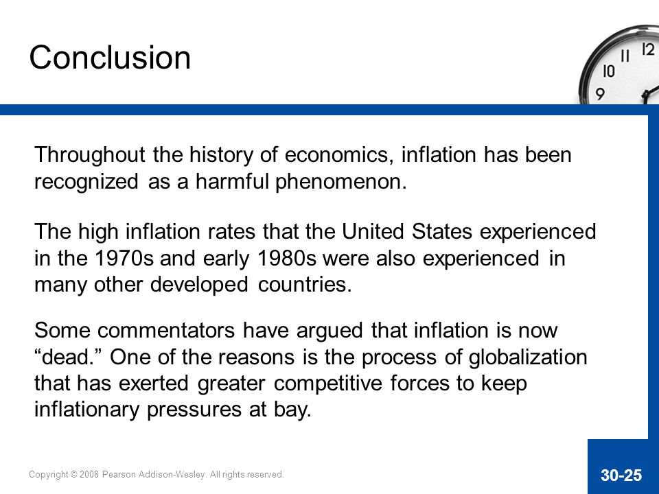 Conclusion Throughout the history of economics, inflation has been recognized as a harmful phenomenon.
