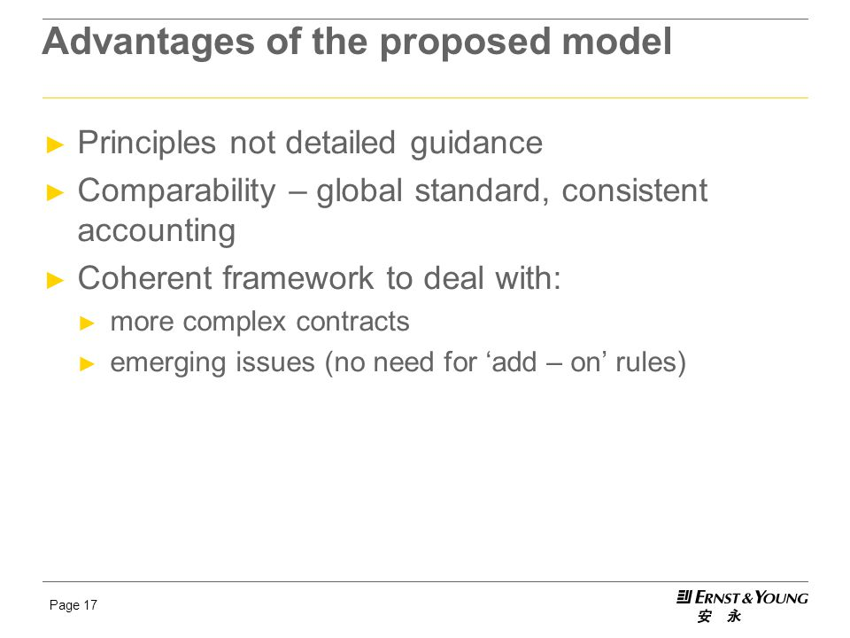 Advantages of the proposed model