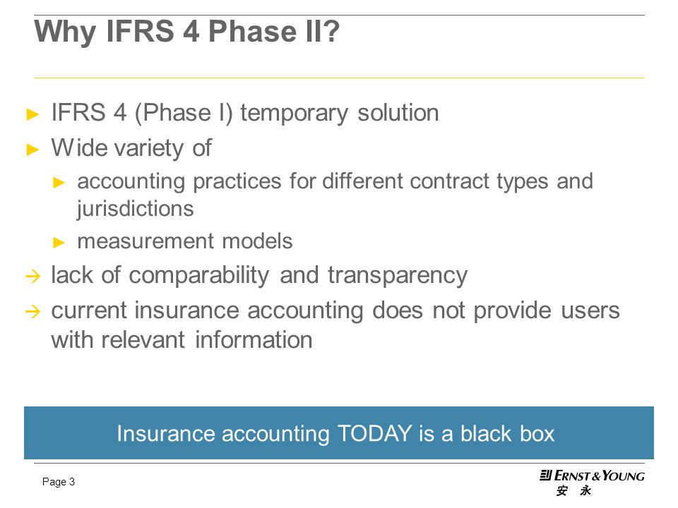 Insurance accounting TODAY is a black box