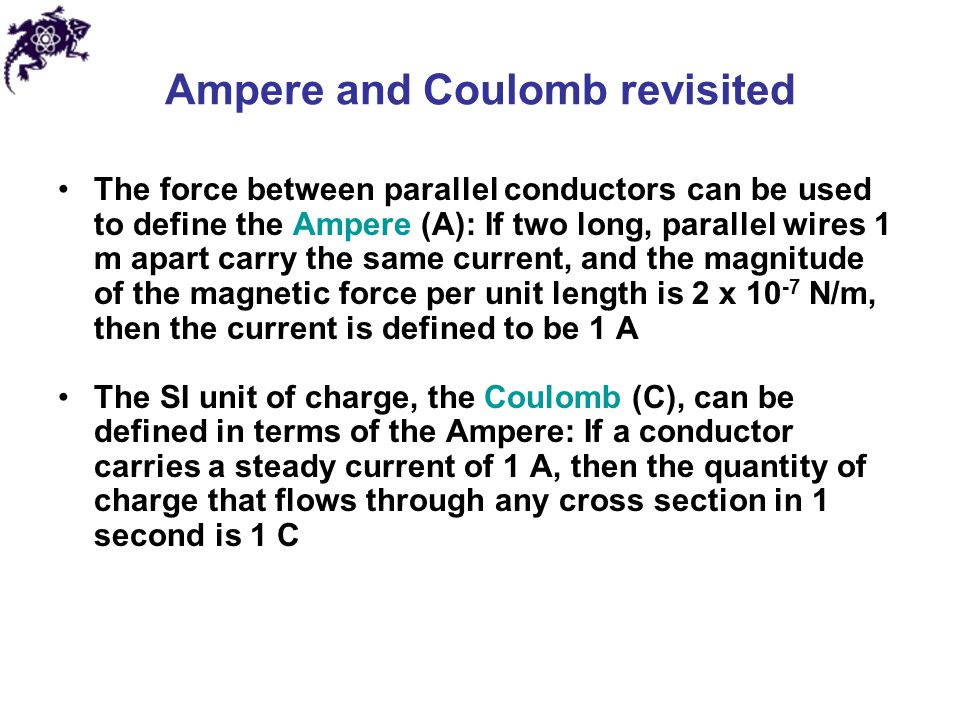 Ampere and Coulomb revisited