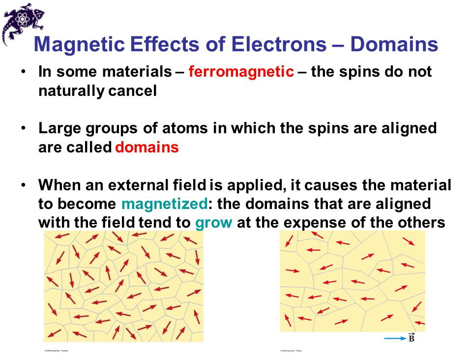 Magnetic Effects of Electrons – Domains