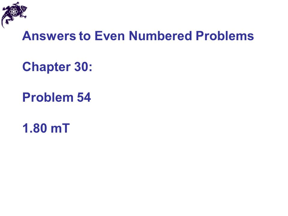 Answers to Even Numbered Problems