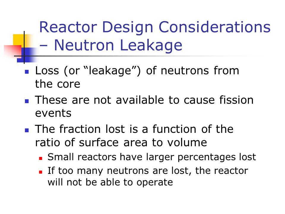 Reactor Design Considerations – Neutron Leakage