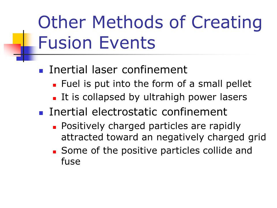 Other Methods of Creating Fusion Events