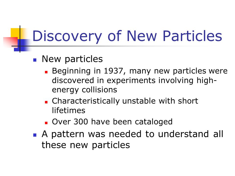Discovery of New Particles