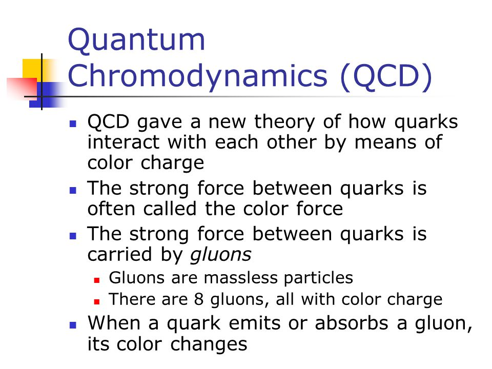 Quantum Chromodynamics (QCD)