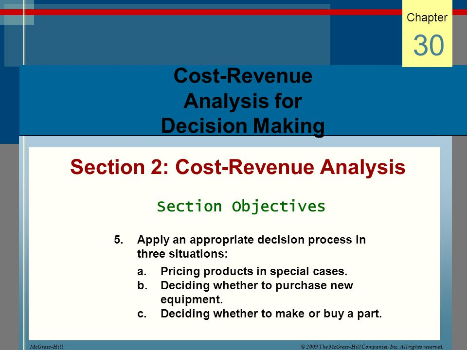 Cost-Revenue Analysis for Decision Making