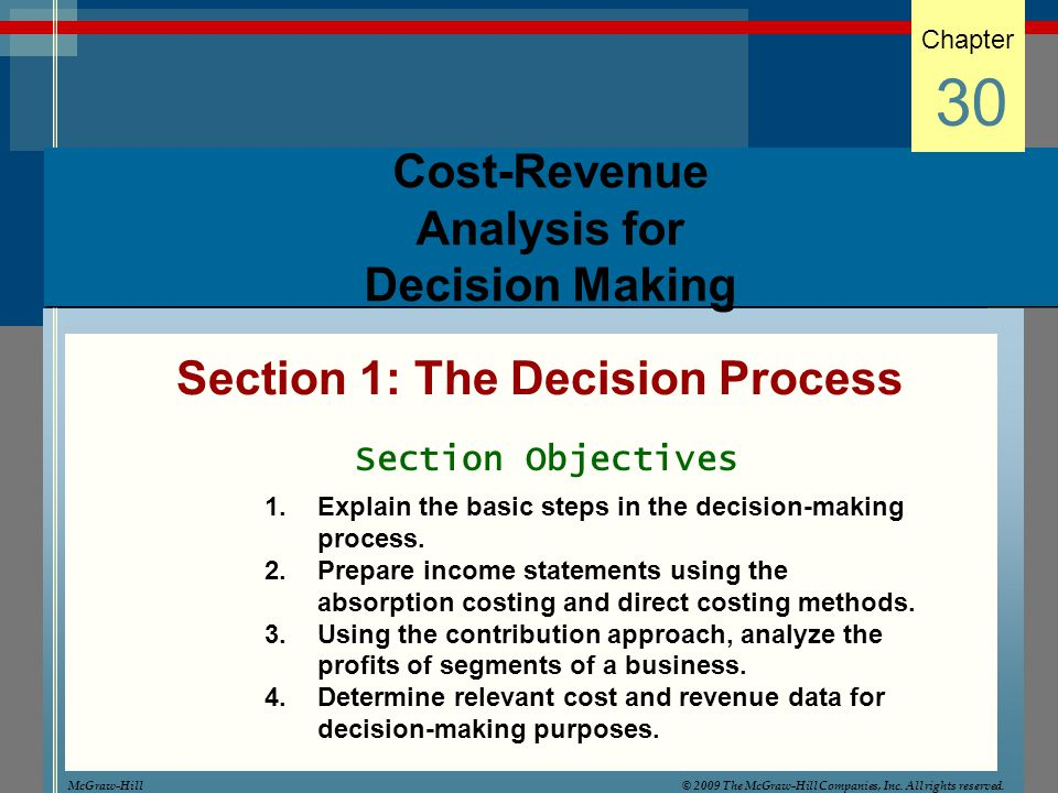 the steps involved in decision analysis in companies Strategic management insight explains the different kinds of strategic  steps initial analysis  companies may go back and reassess their environments if.