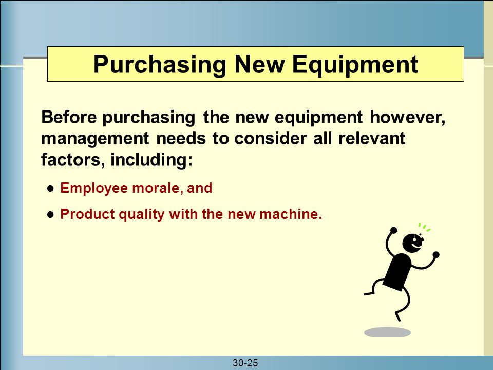 Purchasing New Equipment