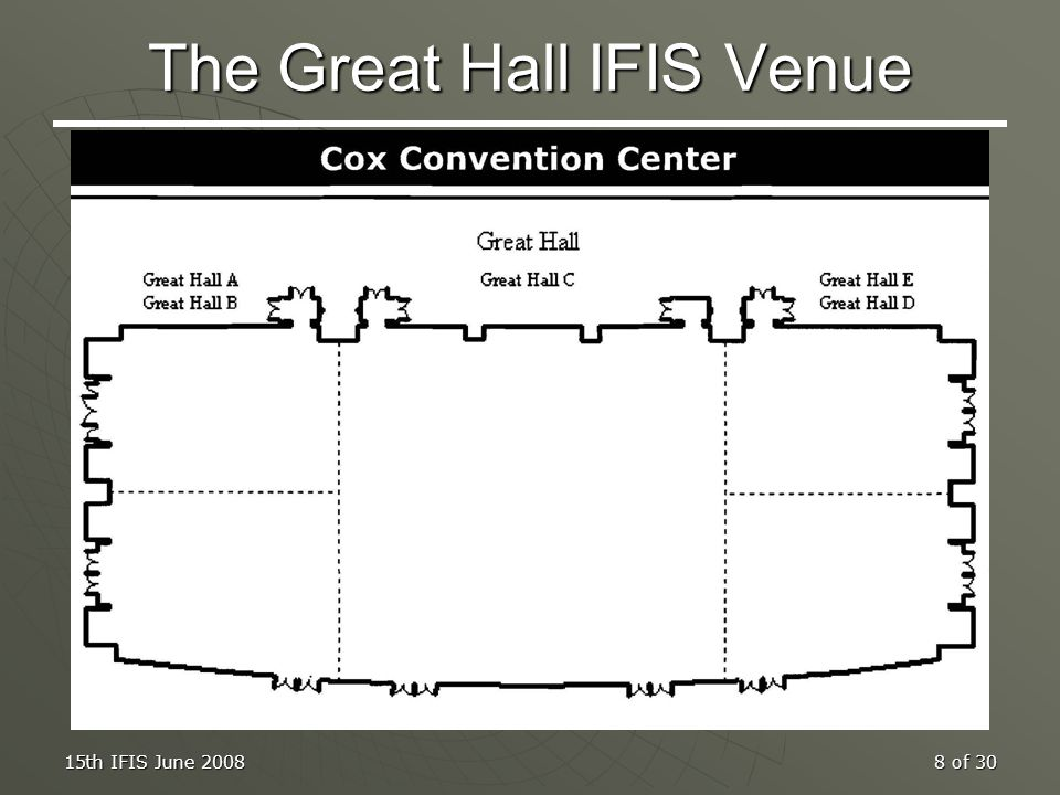 The Great Hall IFIS Venue