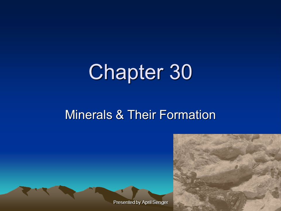Minerals & Their Formation
