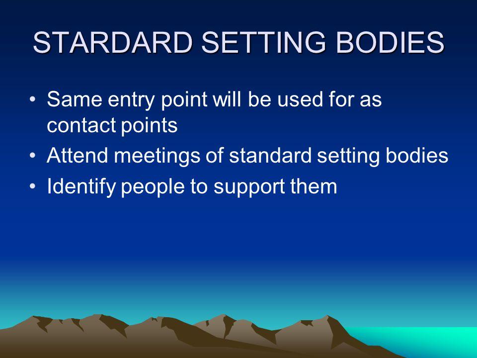 STARDARD SETTING BODIES