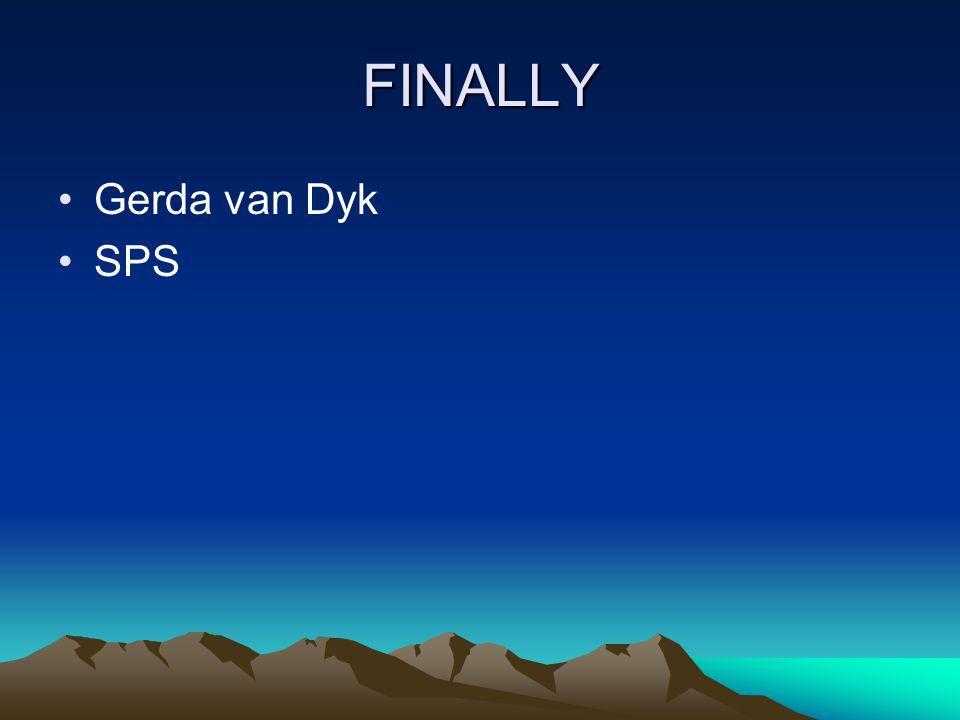 FINALLY Gerda van Dyk SPS