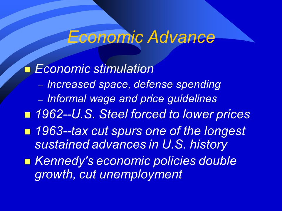 Economic Advance Economic stimulation