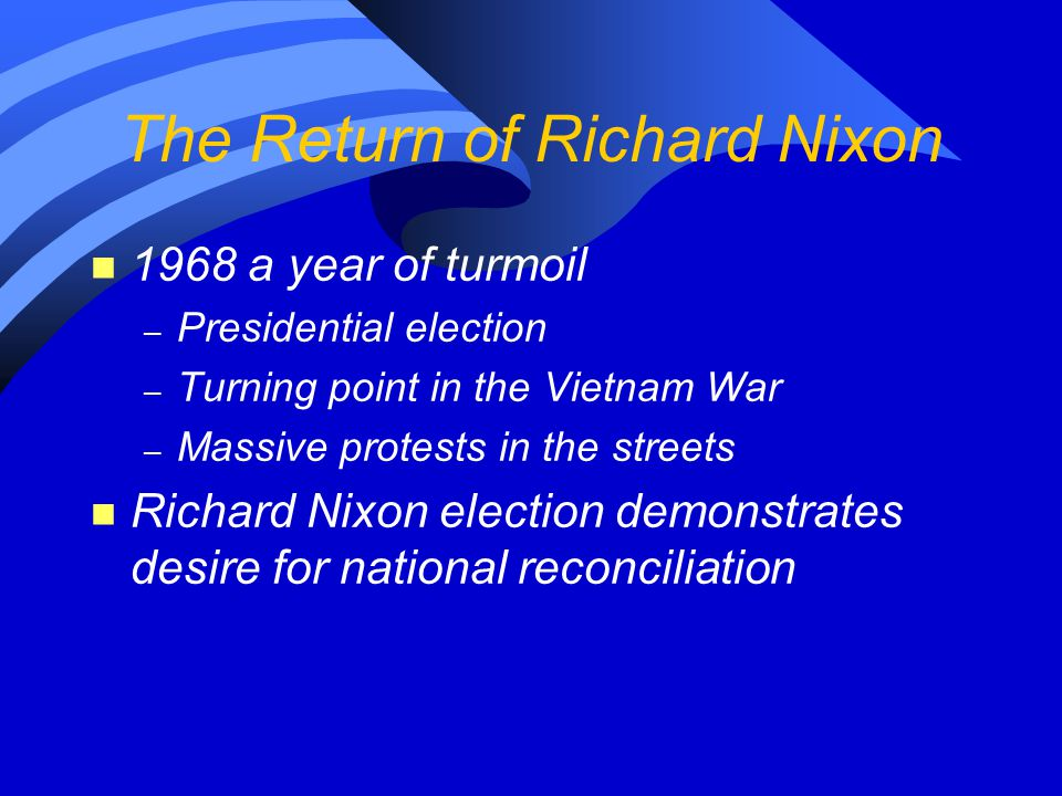 The Return of Richard Nixon