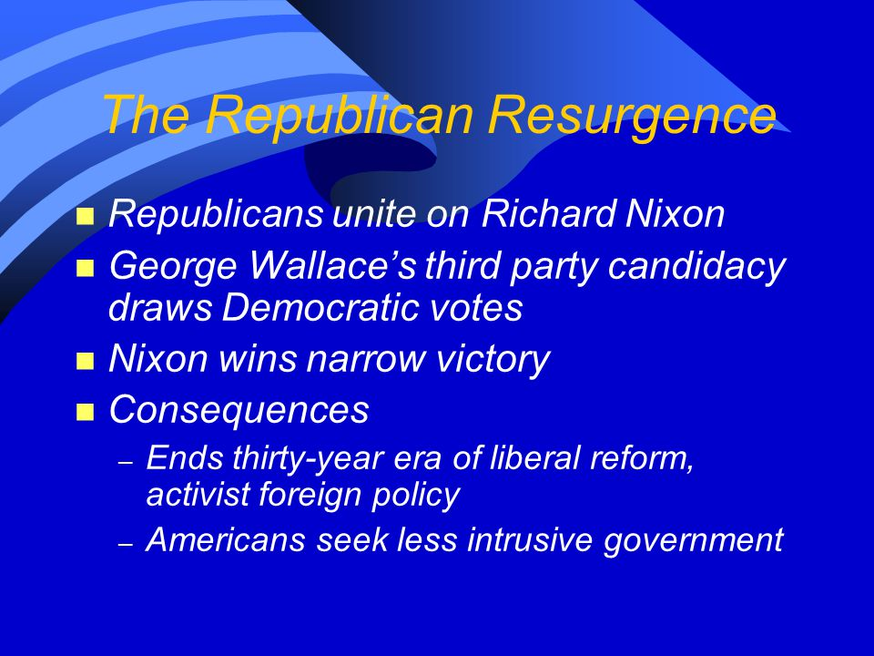 The Republican Resurgence