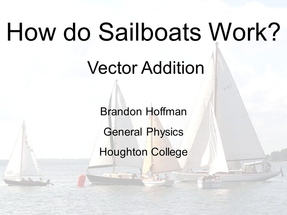 How do Sailboats Work Vector Addition Brandon Hoffman General Physics