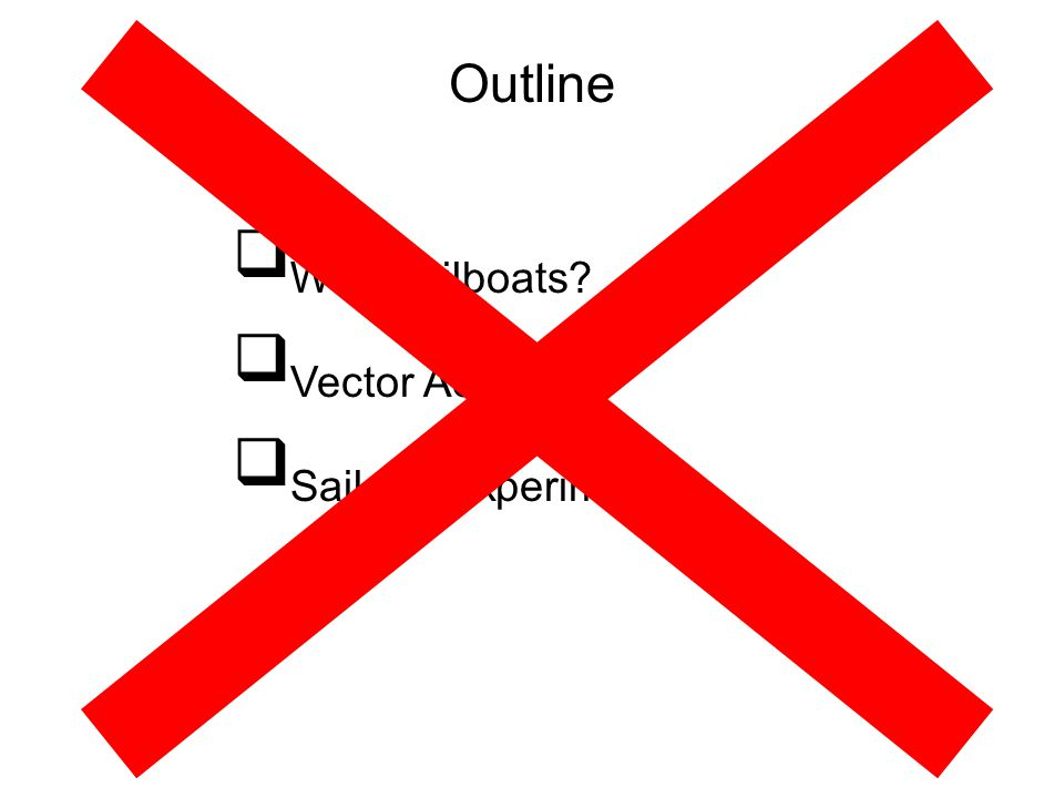 Why Sailboats Vector Addition Sailcart Experiment Outline