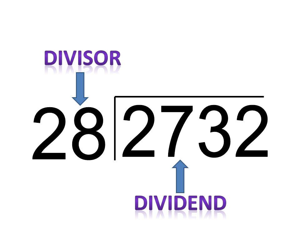 DIVISOR 2732 28 DIVIDEND