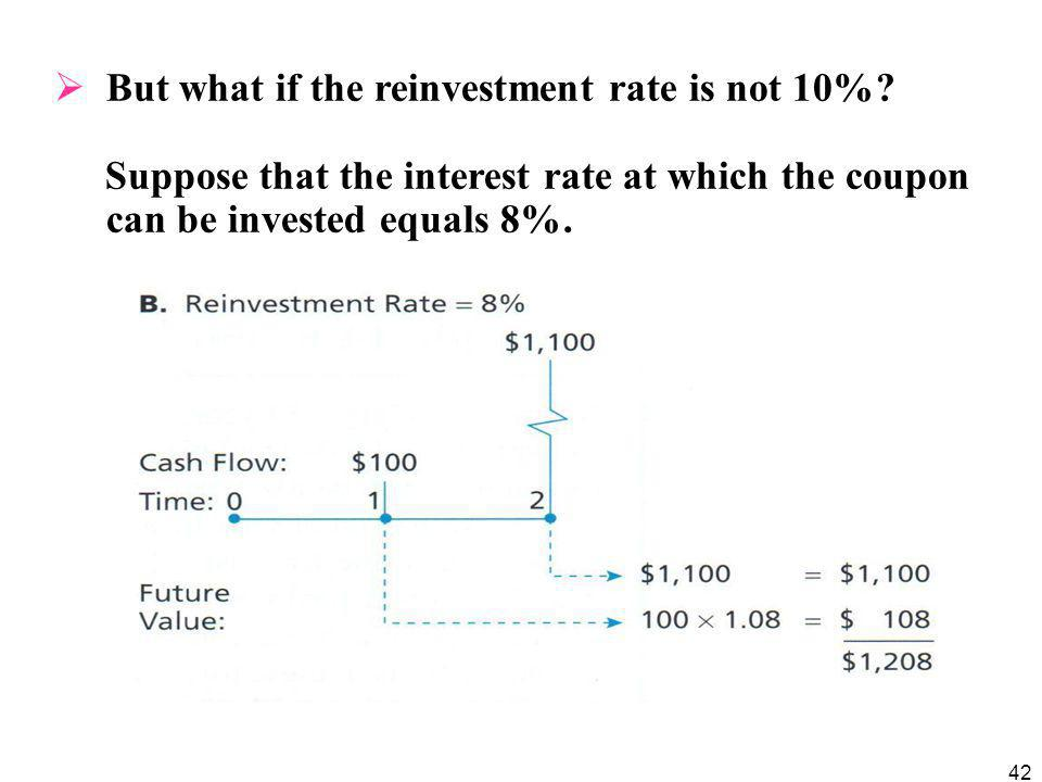 But what if the reinvestment rate is not 10%