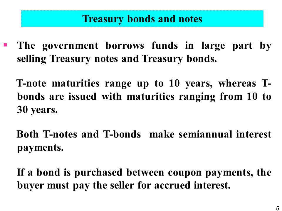 Treasury bonds and notes